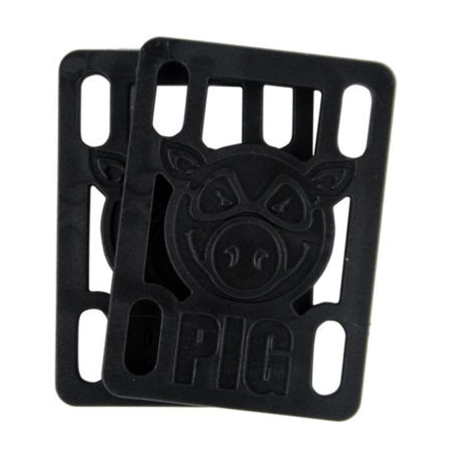 Подкладки под подвеску скейта PIG Piles Hard Risers (Black)