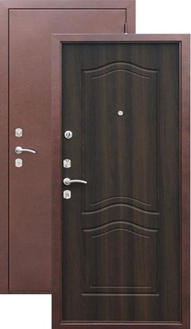 Дверь входная Сибирский стандарт Гарда 1512, 2 замка, 1,5 мм  металл, (медь антик+венге)