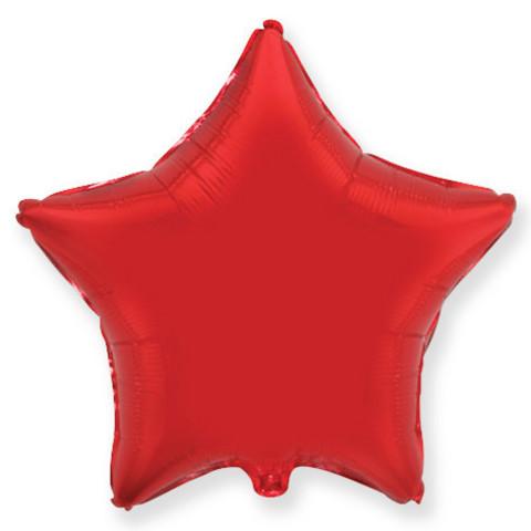 Воздушный шар звезда большая, красный, 81 см