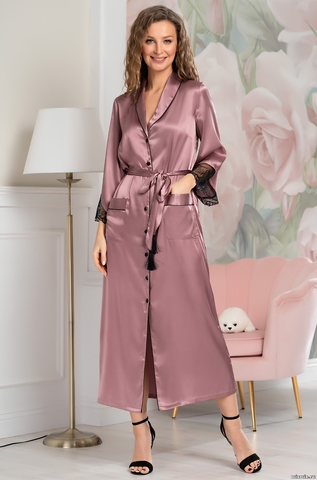 Длинный халат Olivia (70% нат.шелк)
