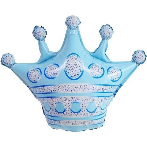 Воздушный шар фигура с гелием Корона голубая, 76 см