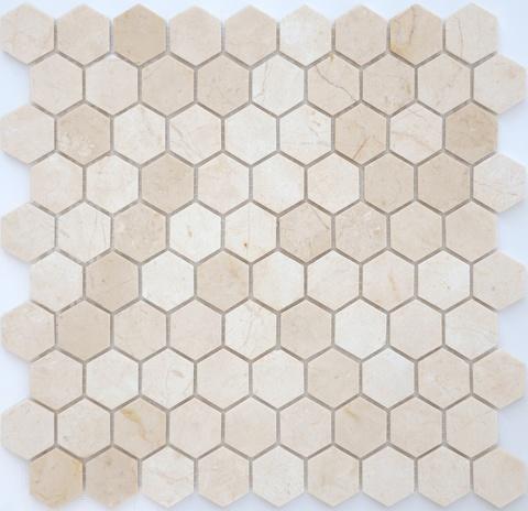 Мозаика Crema Marfil MAT hex 18x30x6 285х305