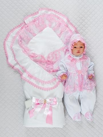 Набор на выписку из роддома весенний Beautiful Мари розовый