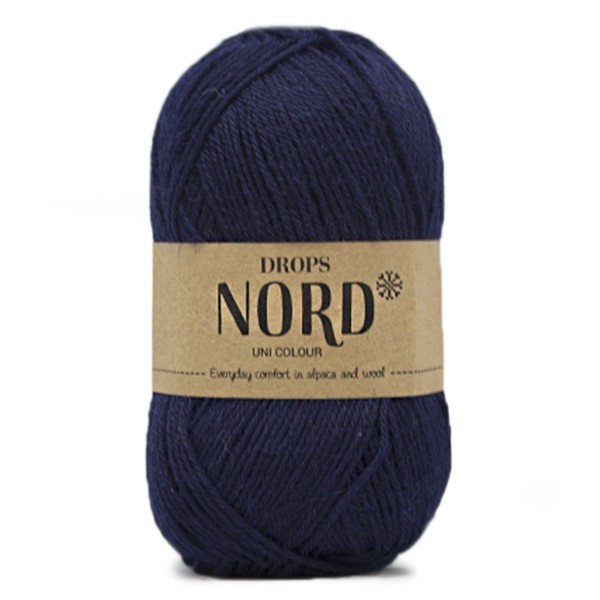Пряжа Drops Nord 15 темно-синий