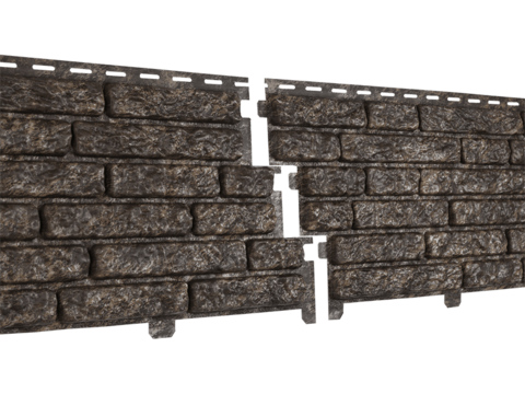 Фасадные панели Стоун Кварцит Коричневый