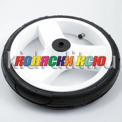 Колесо для детской коляски №006120 надув 10 дюймов (48х188) без вилки низкопрофильное (втулка на ось 10мм) Цвет: БЕЛЫЙ