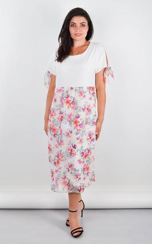 Лада. Изысканное платье больших размеров. Белый.