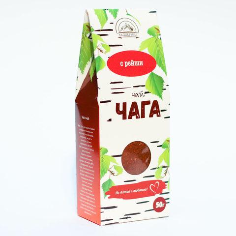 Чага-чай Березовый с рейши, 50г (Хелпер Мед)