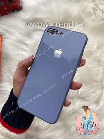 Чехол iPhone 7/8 Plus Glass Pastel color Logo /lavender gray/