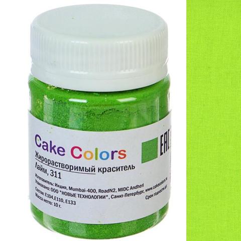 Краситель пищевой ЖИРОРАСТВОРИМЫЙ для шоколада Cake Colors ЛАЙМ