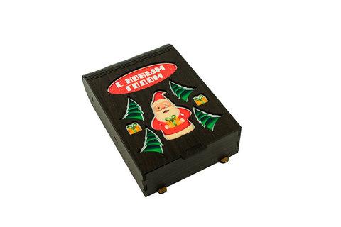 Шкатулка книжка - Дед мороз и елки