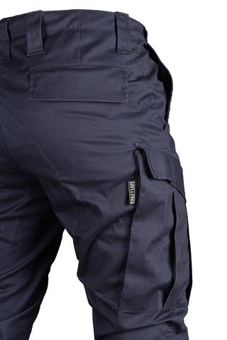 Джоггеры Bomberss от бренда Варгградъ синего цвета из ткани стрейч в Омске с доставкой 5999р