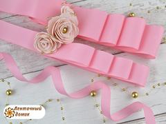 Лента репсовая розовая ширина 6, 9, 22 и 38  мм