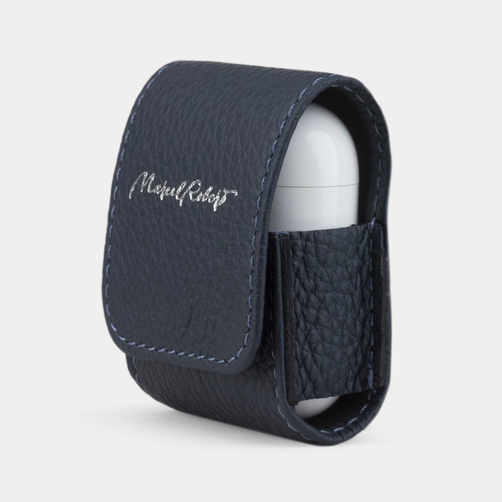 AirPods leather case  - BLUE MAT