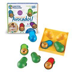 LER6806 Развивающая игрушка Эмоции с авокадо Learning Resources