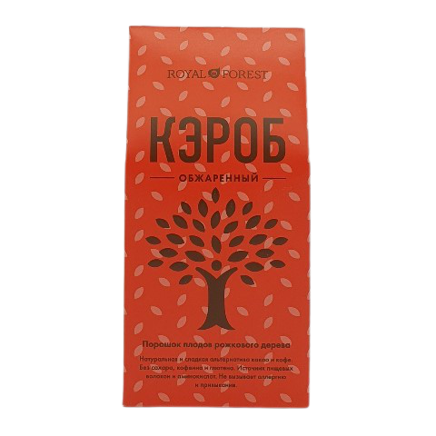 Кэроб обжаренный (порошок из плодов рожкового дерева) ROYAL FOREST, 200 гр
