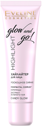 HIGHLIGHT GLOW AND GO! ХАЙЛАЙТЕР ДЛЯ ЛИЦА CANDY GLOW 20мл