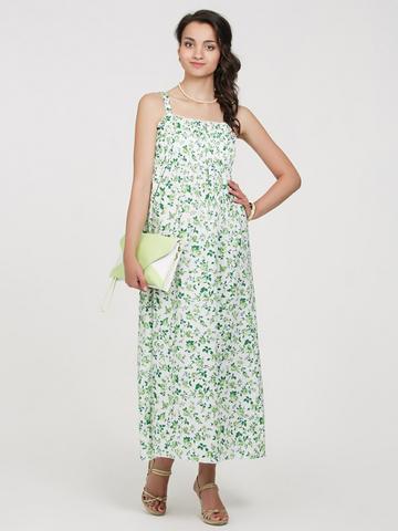 Vivamama. Сарафан для беременных и кормящих, зеленые цветы