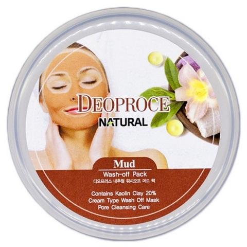 Deoproce Mud Wash-Off Pack маска для лица глиняная