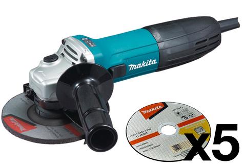 Угловая шлифовальная машина Makita GA5030 + диски D-25557