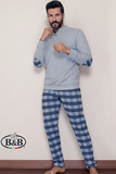 Теплый домашний костюм с заплатками B&B