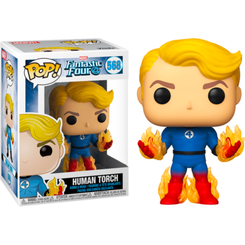 Фигурка Funko Pop! Marvel: Fantastic Four - Human Torch (Excl. to Hot Topic)