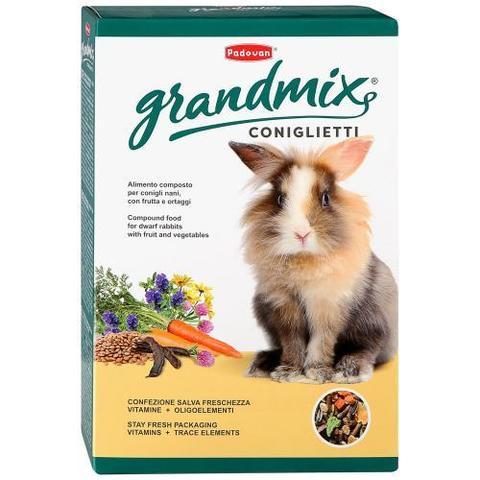 Padovan GRANDMIX Coniglietti корм для декоративных кроликов и молодняка основной 850 г