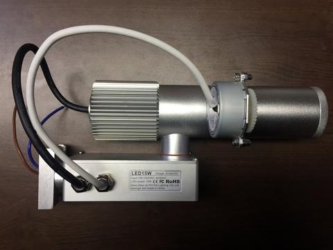 Проектор логотипа GOBO ГОБО 15w IP20 (вращение)  Светодиодный проектор для одного изображения с автоматическим вращением.