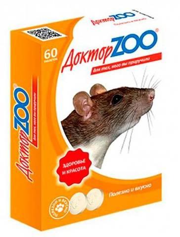 Доктор ZOO витамины для крыс и мышей 60 табл.