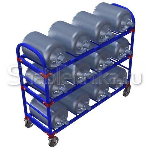 Тележка для перевозки баллонов для воды. ТСВД 12 160-Ч
