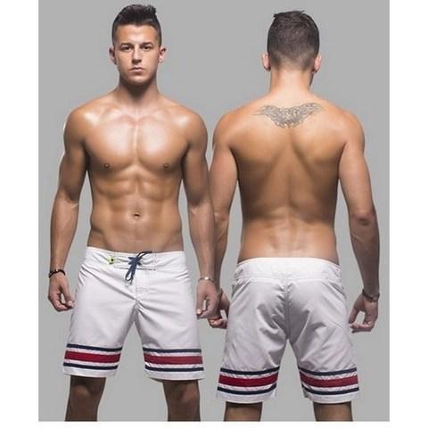 Мужские шорты пляжные купальные белые Andrew Christian AC7364