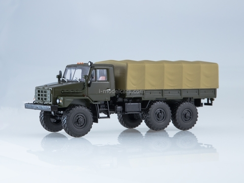 Ural-4322 flatbed truck with awning khaki 1:43 AutoHistory