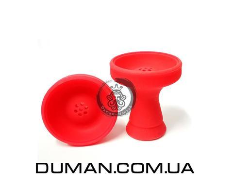 Силиконовая чаша с бортом Красная для кальяна