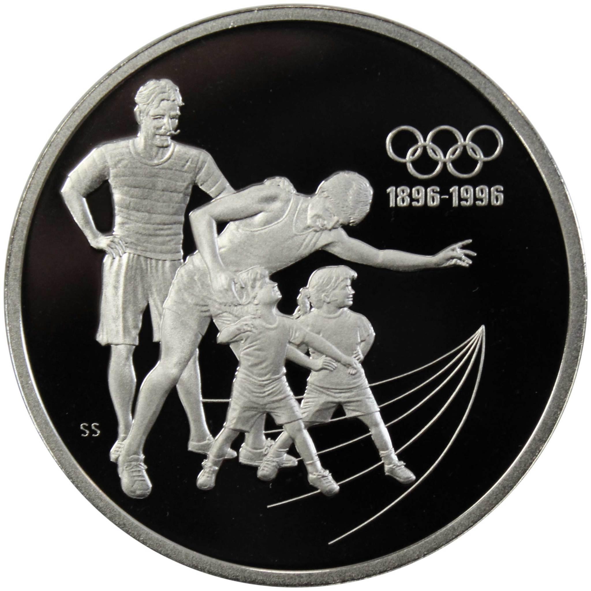 15 долларов. 100 лет Олимпийским играм - бег. Канада. Серебро. 1992 год. PROOF