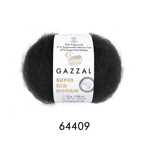 Пряжа Gazzal Super Kid Mohair цвет 64409