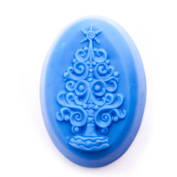 Пластиковая форма для мыла Елка в завитушках