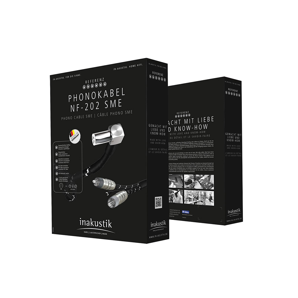 Inakustik Referenz Phono Cable NF-202, 1.5 m, SME - RCA, 007181315