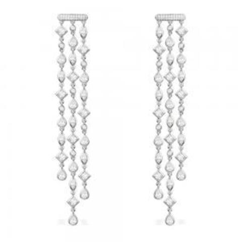 AE1021- Серьги LUCIOLES tassel из серебра с цирконами в стиле APM MONACO