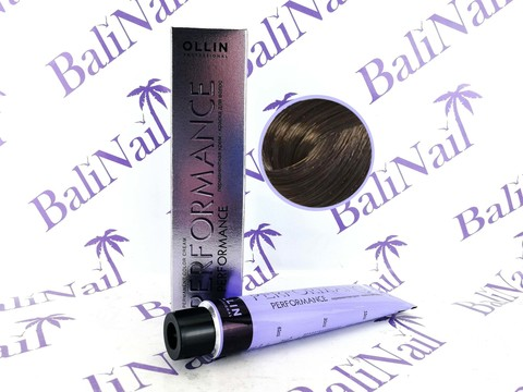 OLLIN PERFORMANCE  6/0 темно-русый 60мл Перманентная крем-краска для волос
