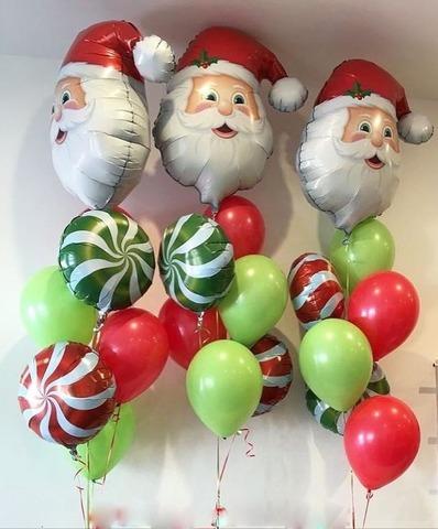Фонтан из шаров Дед Мороз