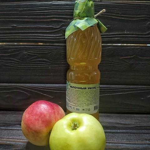 Фотография Уксус яблочный натуральный, 500 мл купить в магазине Афлора