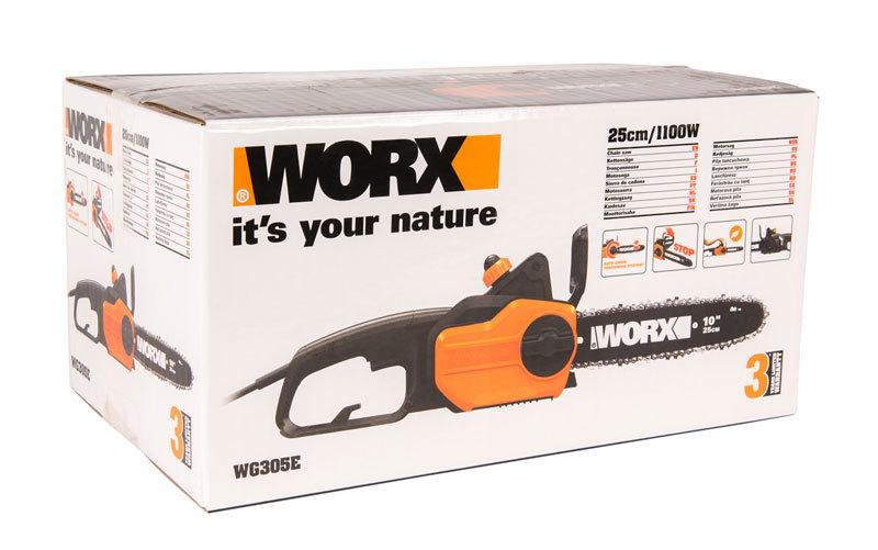 Цепная пила WORX WG305E, 1100В, 25см