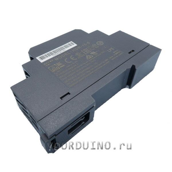 Блок питания HDR-15-5 (5В, 2.4А, 12Вт)