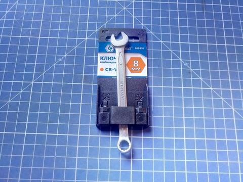 Ключ комбинированный КОБАЛЬТ 8 мм Cr-V (1 шт.) подвес