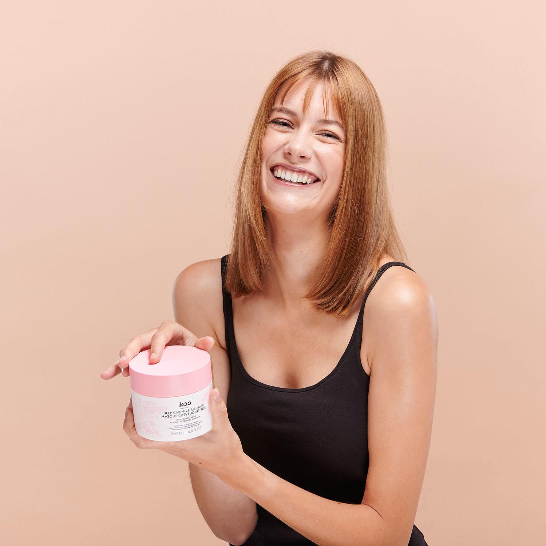 Маска-смузи для интенсивного восстановления волос  ikoo deep caring hair  mask