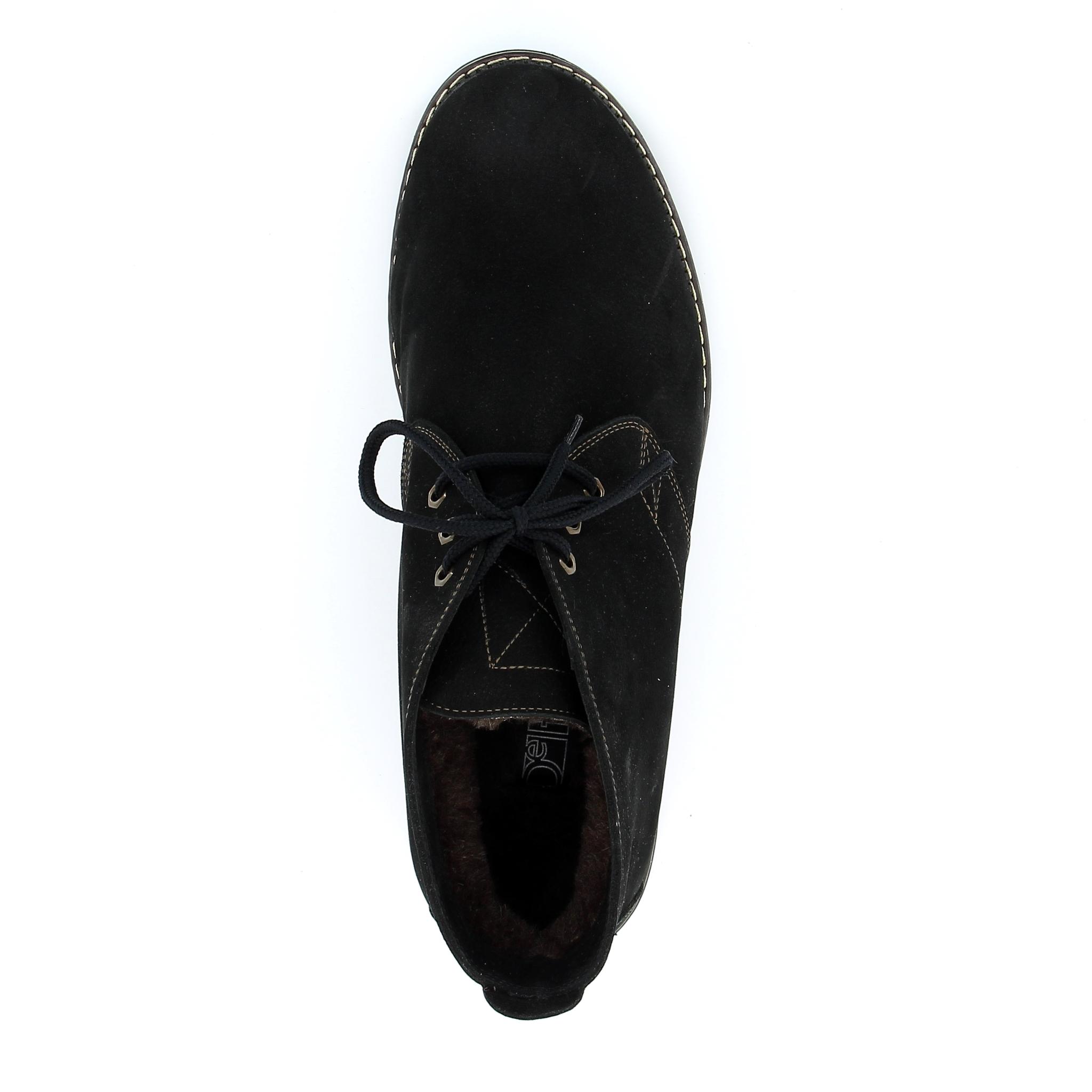 563483 ботинки мужские черные больших размеров марки Делфино