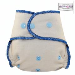 Подгузник из  хлопка для новорожденных с вкладышем Mamalino Василек (3 кг- 8 кг)