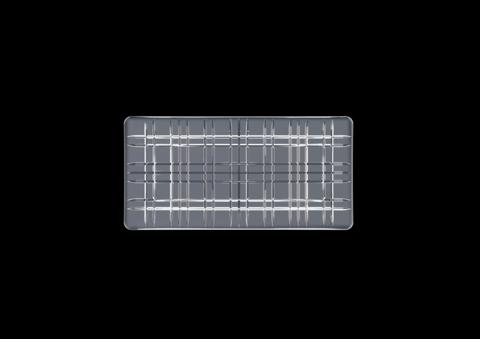Блюдо серое прямоугольное, артикул 101452. Серия Square