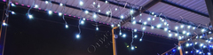 Бахрома светодиодная уличная 3*0,6м 100LED холодный белый IP BT1004565H ч.пр. с мерцанием