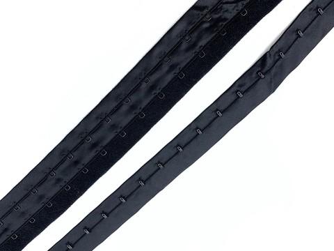 Крючки на ленте двухрядные черные